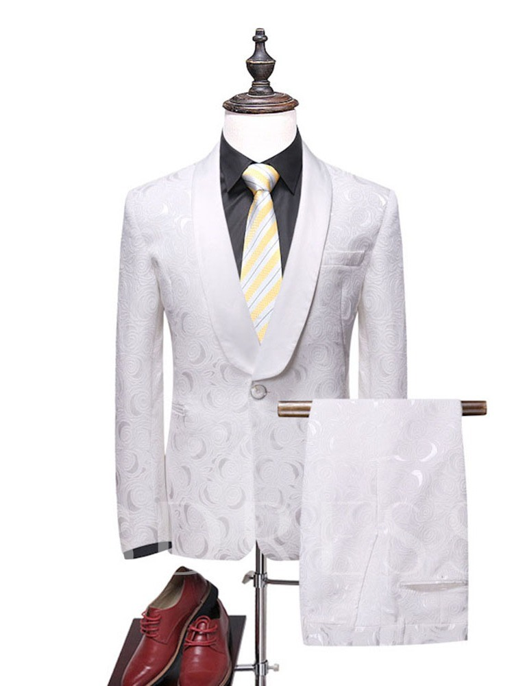 Blazer One Button Casual Men's Dress Suit