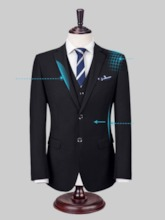 Single-Breasted Button Formal Men's Dress Suit