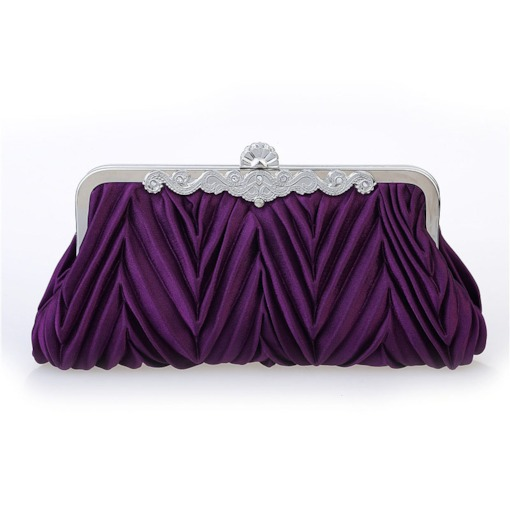 Pleated Hasp Clutches & Evening Bags