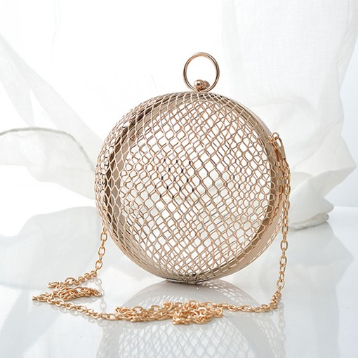 Hollow Circular Clutches & Evening Bags