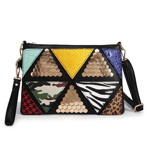 patchwork couleur bloc rectangle crossbody sacs