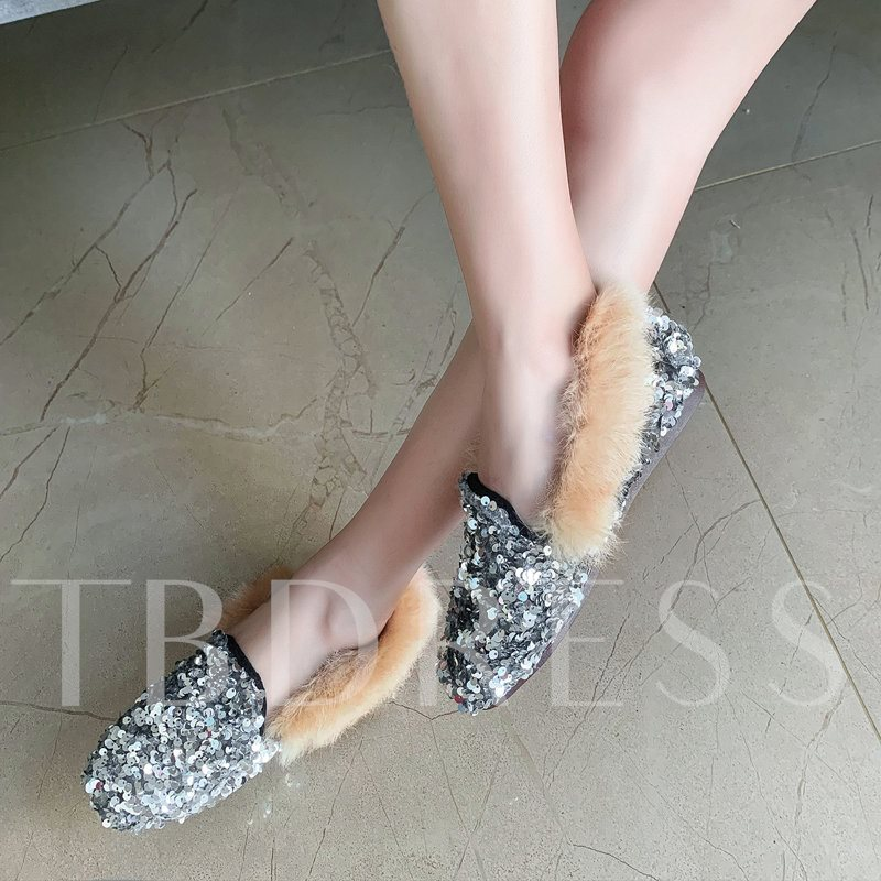 slip-on sequin toe square 1,5cm chaussures fines