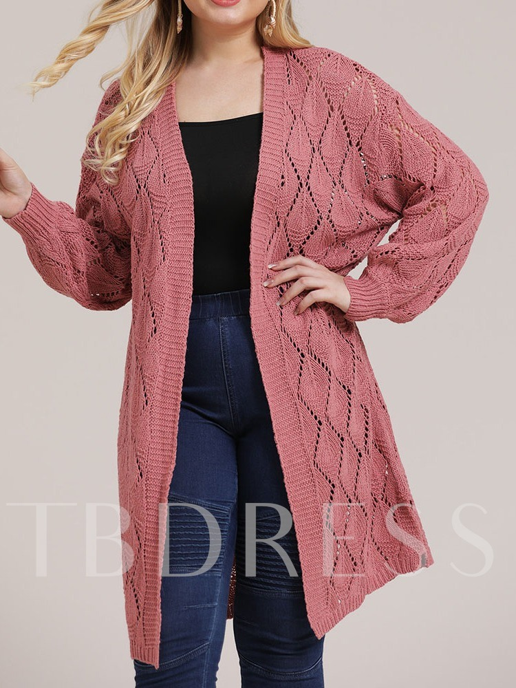 Plus Size Hollow Fall Women's Sweater
