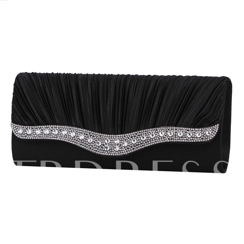 Pleated Rectangle Clutches & Evening Bags