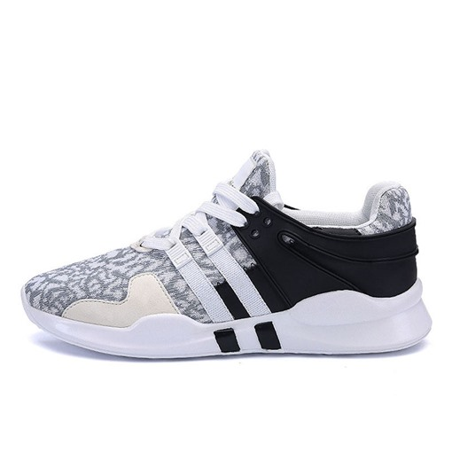 Mesh Sports Lace-Up Round Toe Men's Sneakers