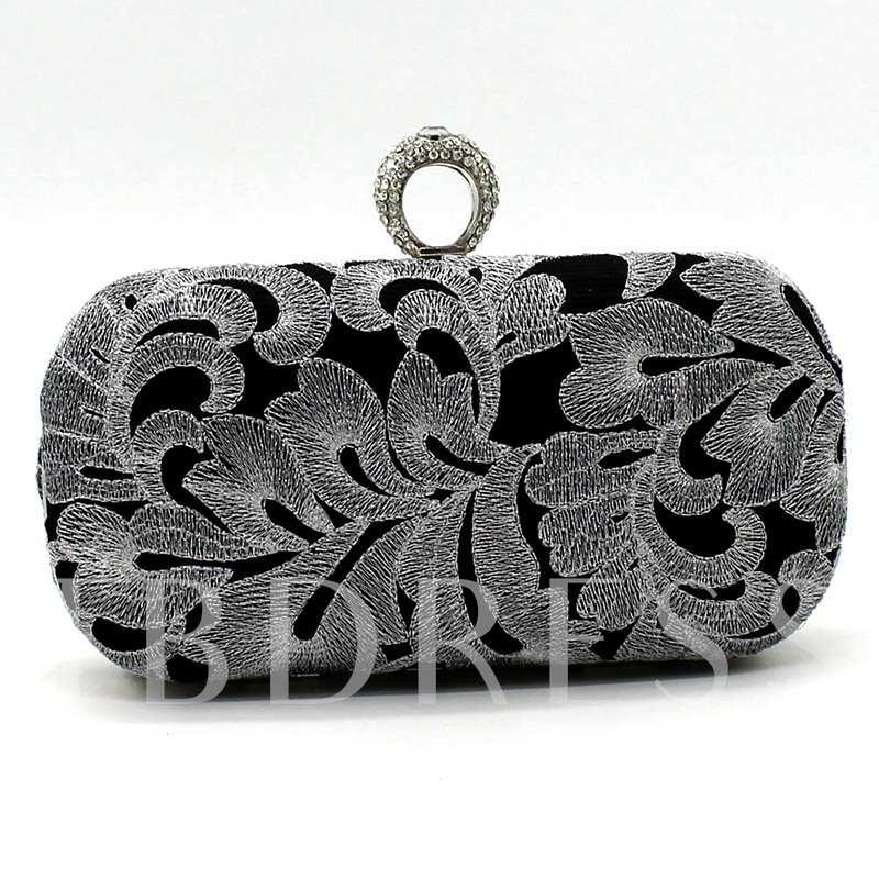 Embroidery Rectangle Versatile Clutches & Evening Bags