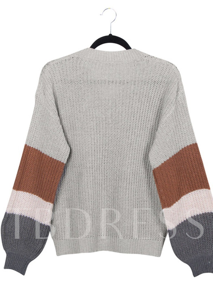 Lantern Sleeve Thin Long Sleeve Women's Sweater