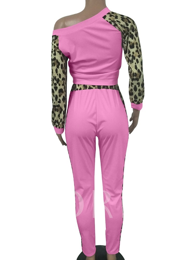 Casual Leopard Ankle Length Women's Two Piece Sets