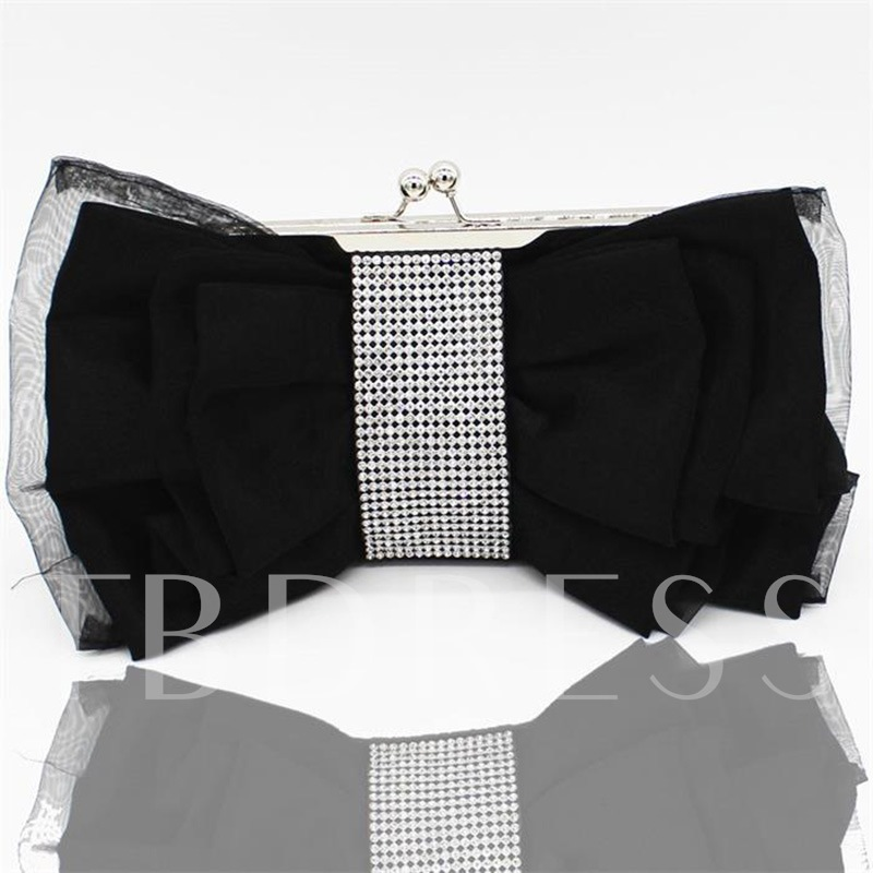Satin Banquet Bownot Clutches & Evening Bags