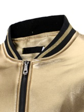Color Block Stand Collar Patchwork Casual Men's Jacket