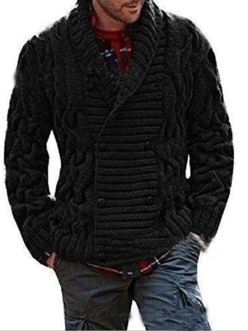 Plain Standard European Men's Sweater