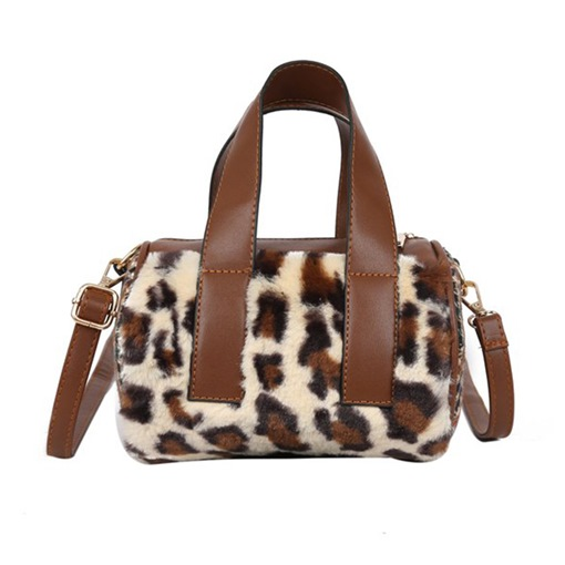 PU Leopard Thread Pillow Tote Bags