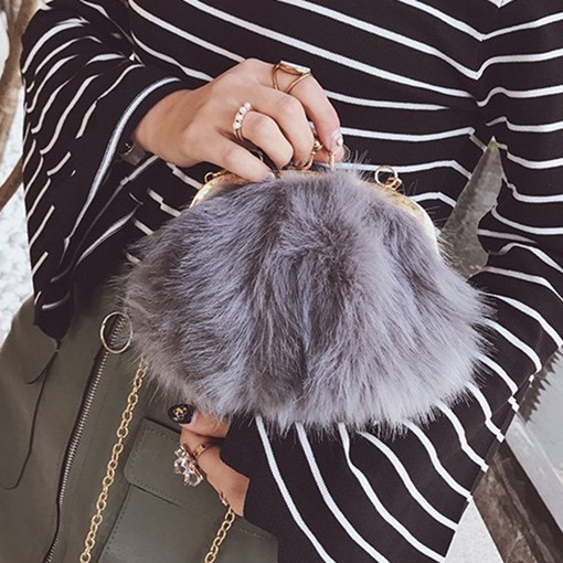 Chain Soft Fluffy Winter Crossbody Bags