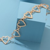 Sweet E-Plating Heart Shape Women's Bracelets