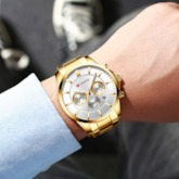 Glass Water Resistant Round Men's Watches