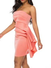 Above-Knee Pleated Sleeveless Pullover Women's Bodycon Dress