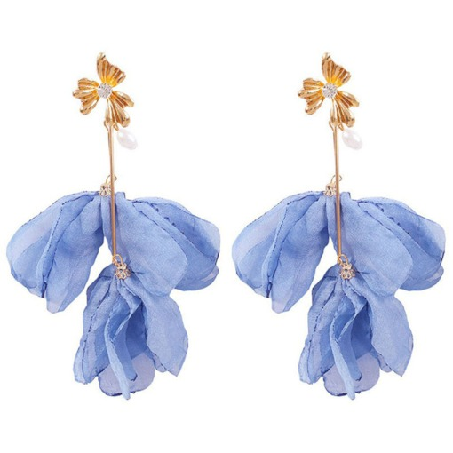 E-Plating Sweet Floral Alloy Drop Earrings