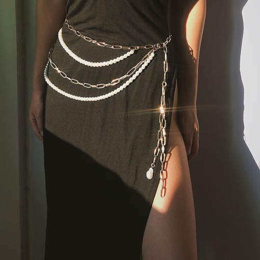Vintage Metal Female Waist Chains