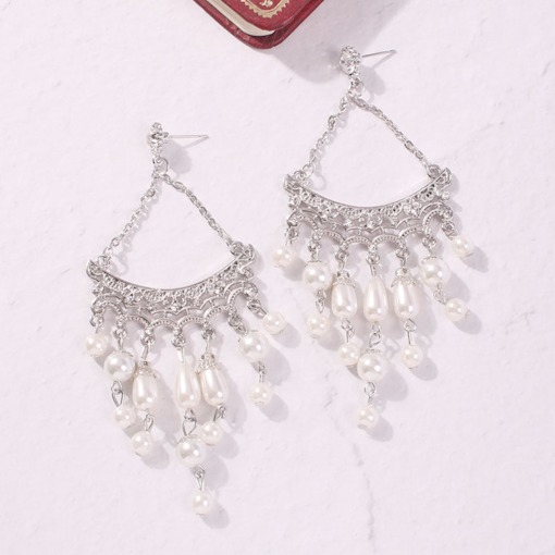 Alloy Sweet Hollow Out Anniversary Earrings