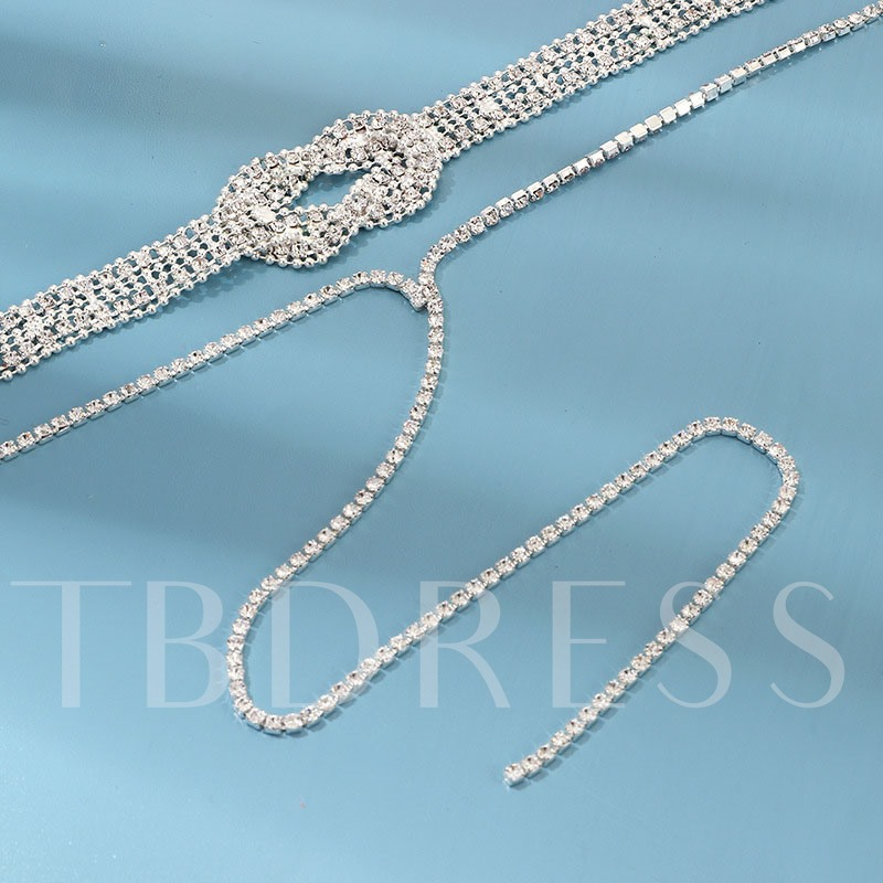 Diamante Romantic Prom Pendant Necklace