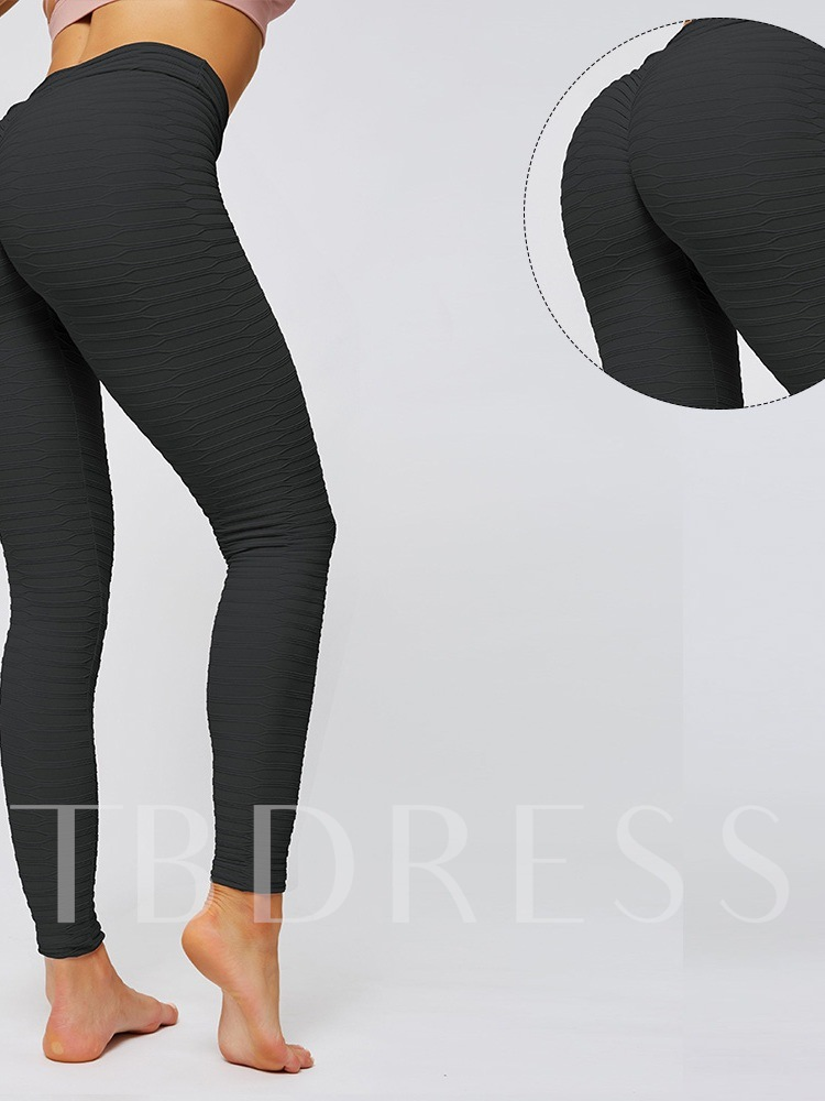 Stripe Nylon Four Seasons Ankle Length Yoga Pants