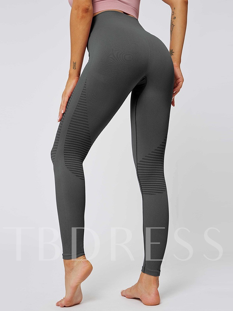 Stripe Polyester Spring Yoga Full Length Pants