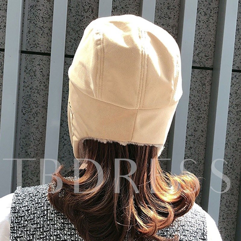 Sewing Thread Korean Winter Bomber Hat for Women