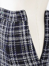 Plaid A-Line Color Block Mid-Calf Casual Women's Skirt