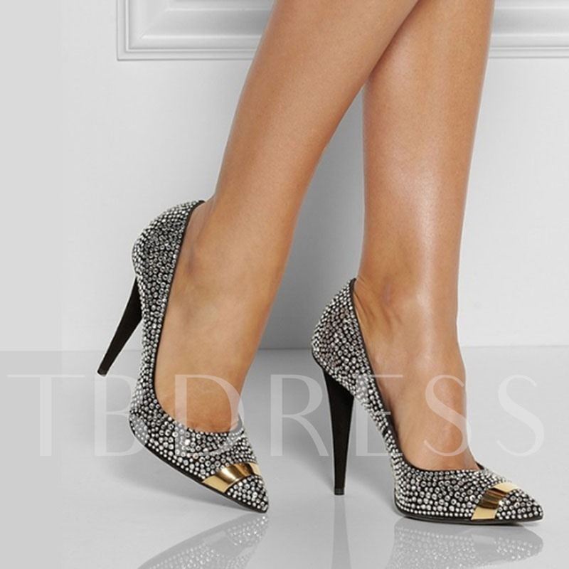 Customized Pointed Toe Stiletto Heel Slip-On Prom Shoes