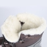 Metallic Round Toe Color Block Lace-Up Front Snow Boots