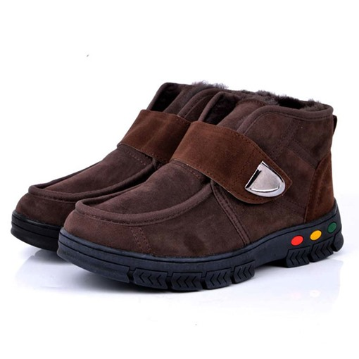 Round Toe Patchwork Velcro Men's Snow Boots