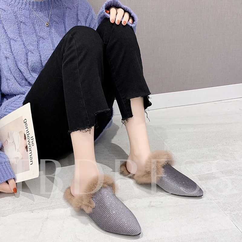 Closed Toe Slip-On Block Heel Casual Women's Mules