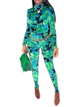 African Fashion Full Length Color Block Skinny Women's Jumpsuit