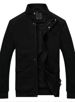 Stand Collar Patchwork Thick European Men's Jacket