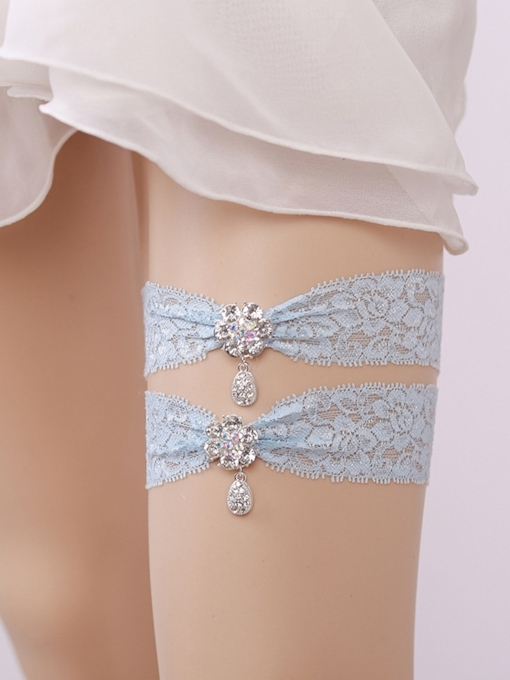 Diamond Lace Wedding Garters