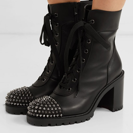 Customized Round Toe Side Zipper Chunky Heel Martin Boots