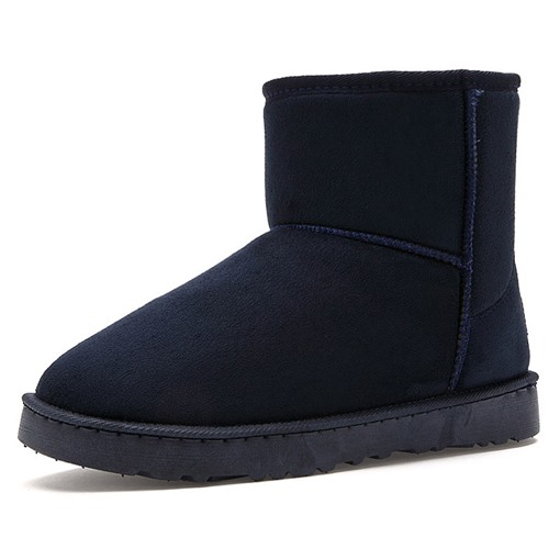 Plain Slip-On Round Toe Men's Snow Boots