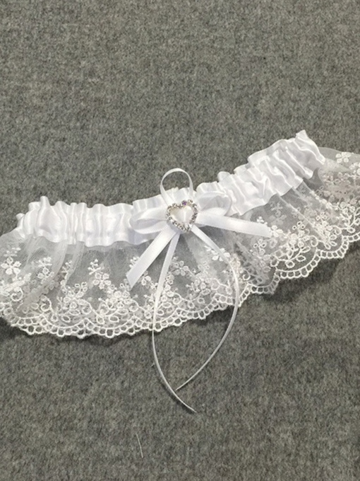 Heart Shaped Lace Bridal Garters