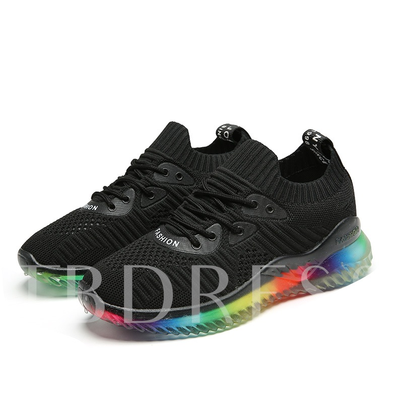 Mesh Lace-Up Round Toe Outdoor Women's Running Shoes