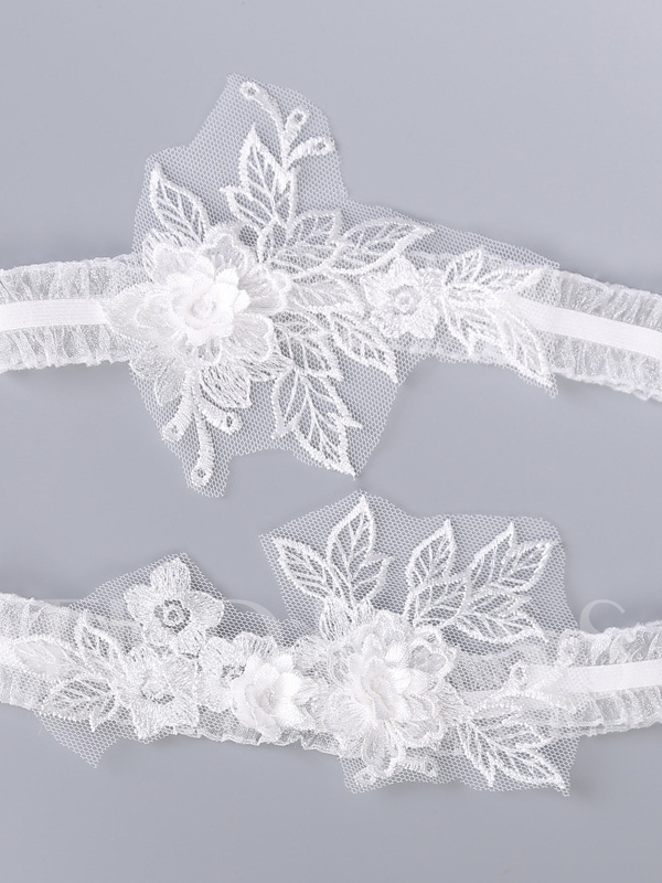Floral Lace Wedding Garters