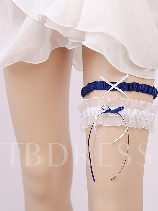 Pleated Color Block Mesh Garters