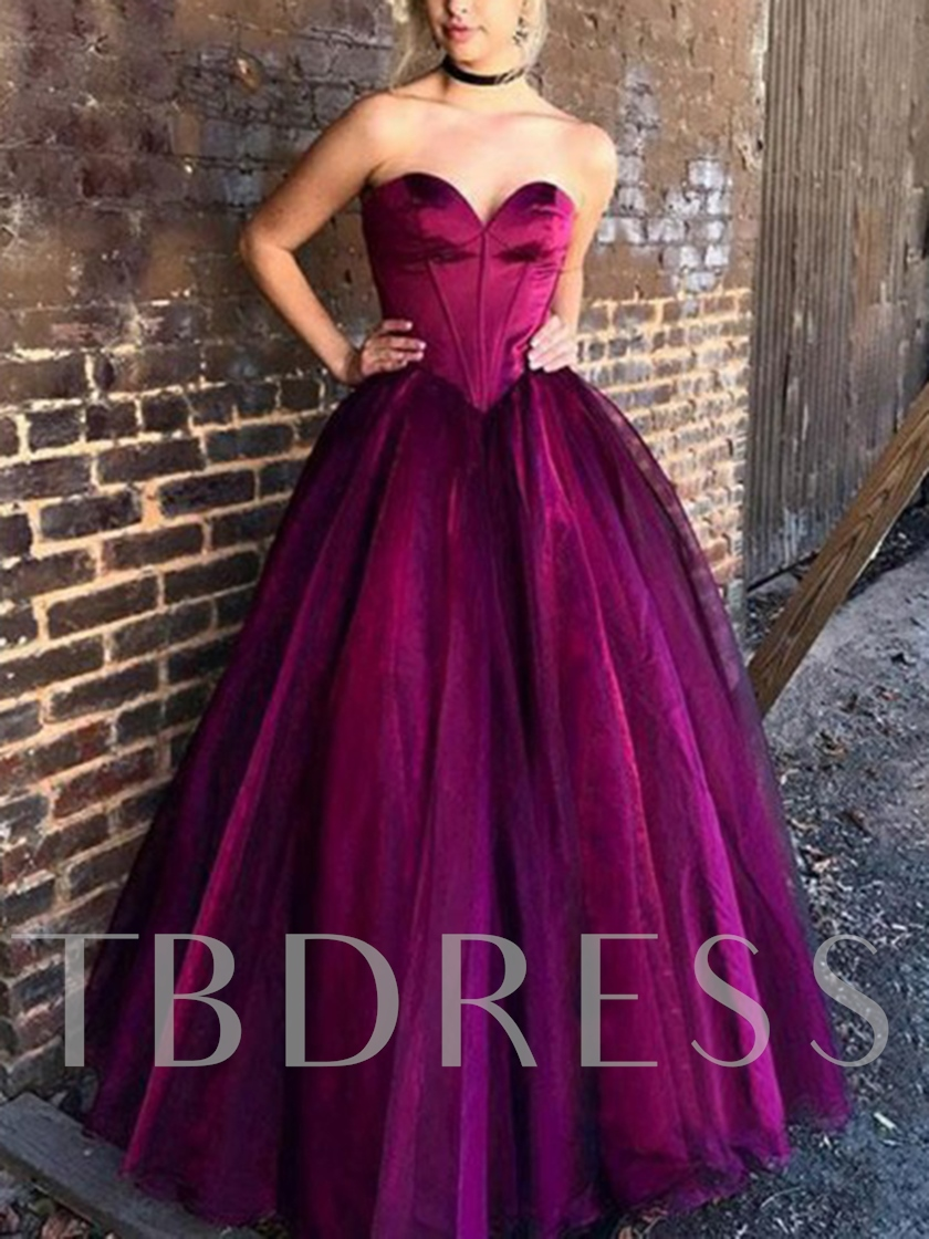 Sweetheart Ball Gown Vintage Prom Dress 2019