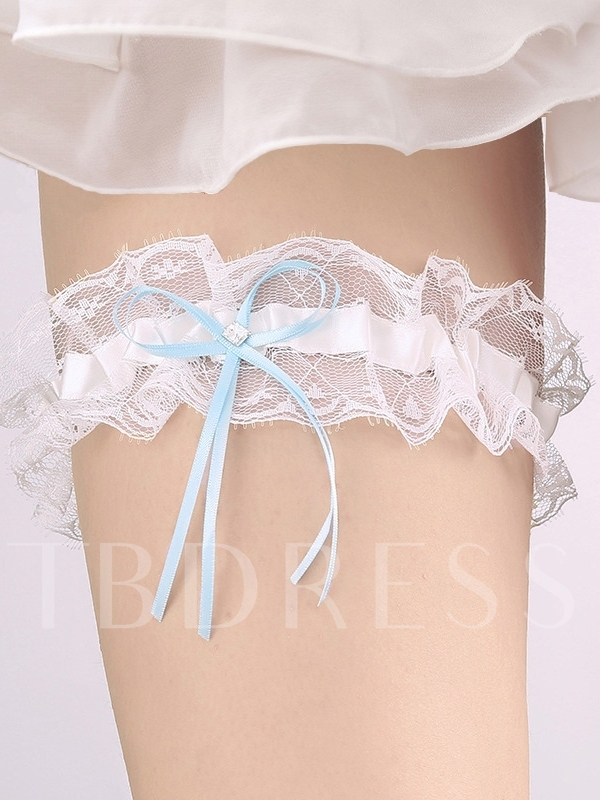 Bowknot Floral Lace Lace Wedding Garters