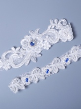 Bead Floral Lace Bridal Garters