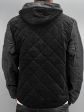 Standard Hooded Patchwork Casual Men's Down Jacket