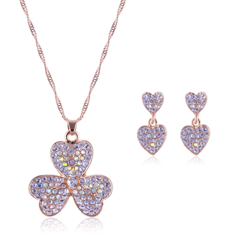 diamante european heart-shaped jewelry sets (hochzeit)