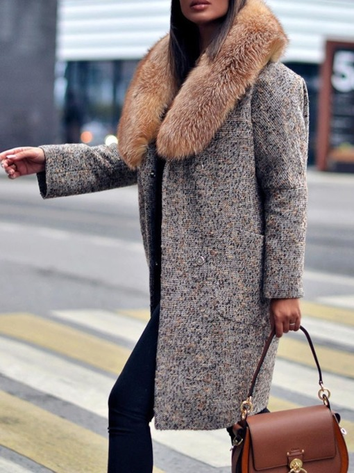 Regular Straight Winter Women's Overcoat