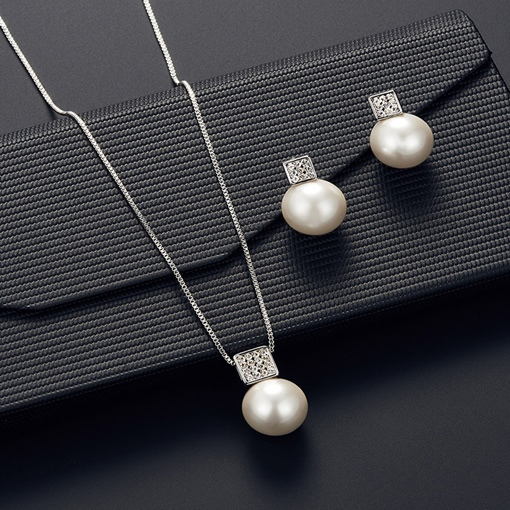 Necklace Spherical European Wedding Jewelry Sets