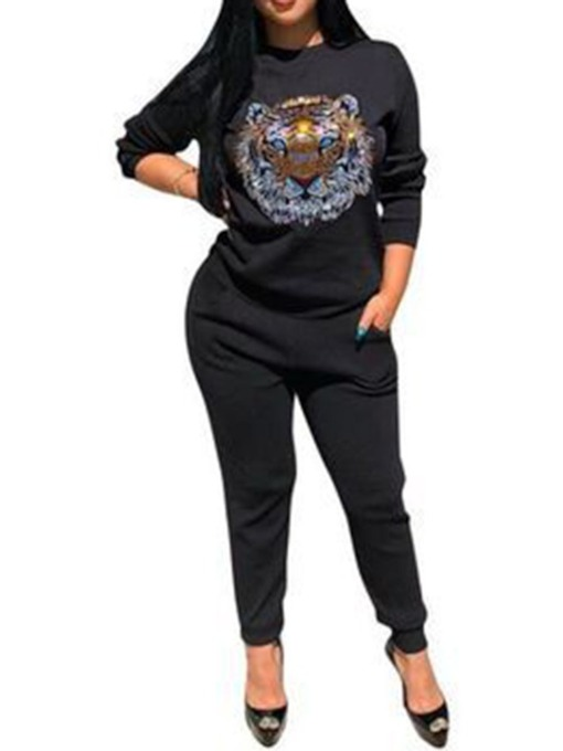 Casual Animal Women's Two Piece Sets