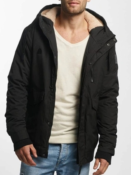Mid-Length Hooded Slim Casual Men's Down Jacket